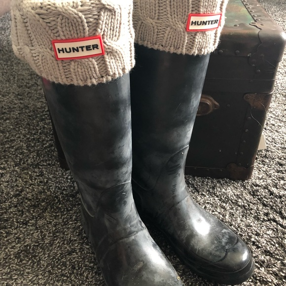 6b99fa1924d47 Hunter Accessories | Original Sixstitch Cable Boot Socks Sz M | Poshmark